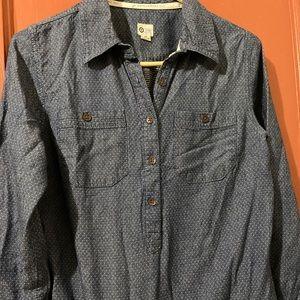 TOMS For Target Sz S Blue Denim Shirt